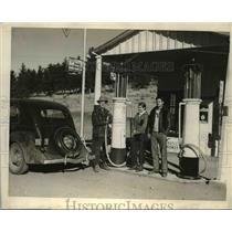 1936 Press Photo This GAS station is a part of the self-sufficiency program of