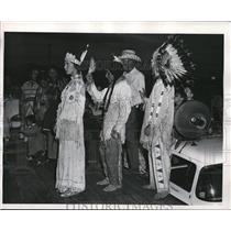1955 Press Photo of Patricia Hurley is inducted into the Arapahoe Nation.