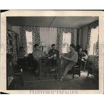 1918 Press Photo Recreation Room 801 Fern Avenue