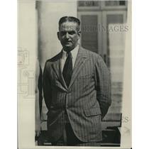 1930 Press Photo Captain Antonio Silva Red Cross in Santo Domingo