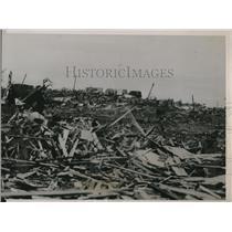 1936 Press Photo Half mile stretch in Tupelo after the tornado attack