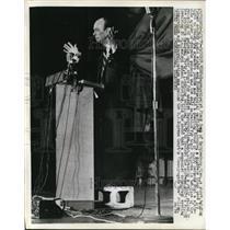 1970 Press Photo Segregationist Jimmy Swan during Civil Rights speech