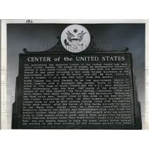 1964 Press Photo Marker for Center of the United States in Butte County