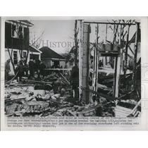 1952 Press Photo Remains of Farmingdale Federal Savings & Loan Association Bldg.