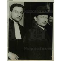 1927 Press Photo Provost, 1 of the men arrested & accused as foreign agents