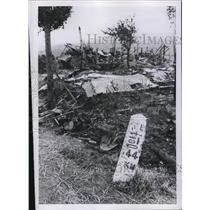 1950 Press Photo downed plane