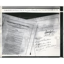 1957 Press Photo Copy of Civil Rights Bill