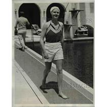 1933 Press Photo Ms. Mary L. Upperch of Rumson, N.J.