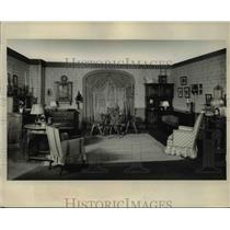 1933 Press Photo of a Jolly Room for the American Farm.
