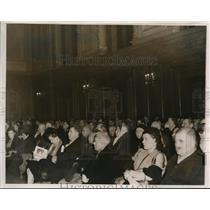 1939 Press Photo Cleveland view of city council chamber during a Council's