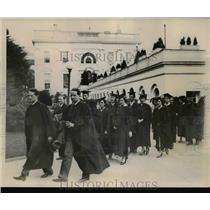 1933 Press Photo a delegation of alumni of American Universities made a