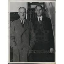 1934 Press Photo Sir Harold Fawcus & Mr Clement Biddle from Red Cross conference