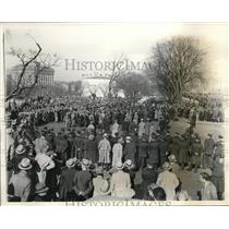 1932 Press Photo Hunger marchers in a group in front of Capitol in Washington
