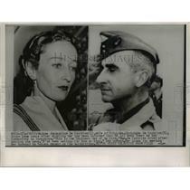 1954 Press Photo Jacqueline De Castries wife of Brig Gen Christian De Castries