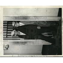 1934 Press Photo Millard Whited, house painter of Lambert ville in New Jersey