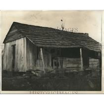 1929 Press Photo Cabin Connie Franklin Burned by Arkansas Nightriders