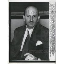 1958 Press Photo Polish scientist, Dr. Jerzy Nowinski, space travel expert