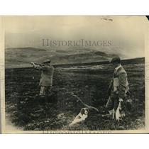 1925 Vintage Press Photo Grouse Hunters 1920s Scotland