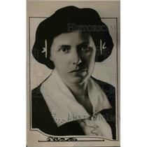 1921 Press Photo Miss Anne Sprague, Head of Internal Institute of W.C.A.