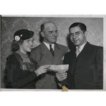 1934 Press Photo John Mincheski,$10,000 prize winner of St.Ladger Sweepstakes