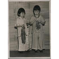 1935 Press Photo Chinese Children Singing, San Francisco Chinatown New Year