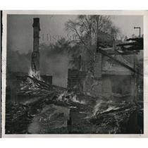 1940 Press Photo Ruins of a house due to Nazi Bombing