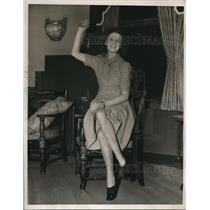 1940 Press Photo Eilleen Bell English Actress in New York Wife of  Joseph Tobin