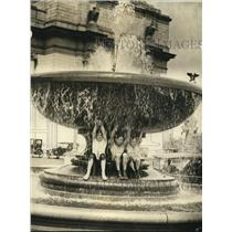1923 Press Photo Children Play in Public Fountain, Washington D.C.