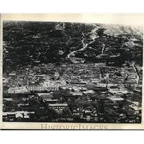 1930 Press Photo Aerial view of La Paz Bolivia during revolution
