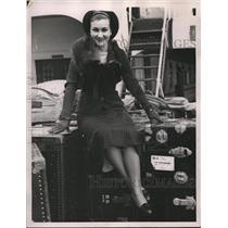 1936 Press Photo Zoeya Mosco newspaperwoman in San Francisco