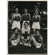 1934 Press Photo 6 Lieutenants medical detachment Women's air reserve, Red Cross