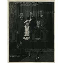 1923 Press Photo Contest Judges for Madame Sarah Bernhardt Memorial Tablet