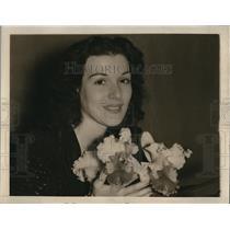 1939 Press Photo Charlotte Manson & the new Brenda orchid
