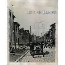 1940 Press Photo Scene in the Belgian Town after Nazi Forces marched in.