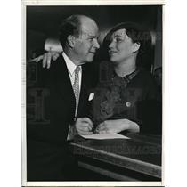 1936 Press Photo J Stuart Blackton Weds Evangeline Russell De Rippeteau