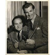 1940 Press Photo Cliff Mazarro and Herb Shriner in This is the Show