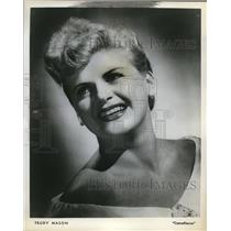 1958 Press Photo Trudy Mason, Comedienne