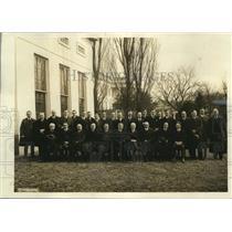 1921 Press Photo Wash DC correspondents at White House, Tighe,Smith
