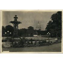1922 Press Photo View Across From The U.S. Botanic Gardens