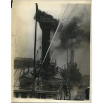 1925 Press Photo Boston Fire Boats in American Legion Endowment Exhibition