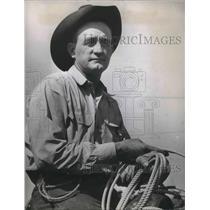 1945 Press Photo John Bowman, all-around cowboy champion winner - ora15091