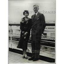 1933 Press Photo Sir Hugh and Lady Smiley, of London, England.