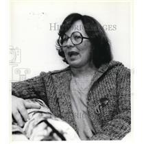 1979 Press Photo Mrs. R. S. Palmer in her cardigan & glasses
