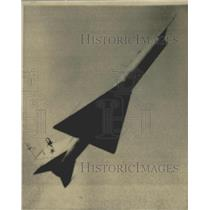 1956 Press Photo A new Soviet Semi-Delta wing experimental jet fighter
