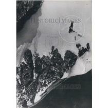1950 Press Photo Constellation plane crashed at summit of Mount Blanc