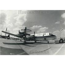 1985 Press Photo The new Lockheed P3AEW plane on exhibit