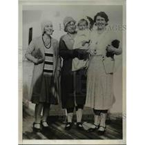 1931 Press Photo Nicaraguan refugees Mrs Taylor, M Baxter & baby, E Benson