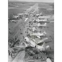 1966 Press Photo Overhead view of Farnborough Air show