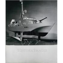 1970 Press Photo Hovercraft Model