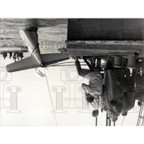 1955 Press Photo Airplane being salvaged from lake in Barvaria